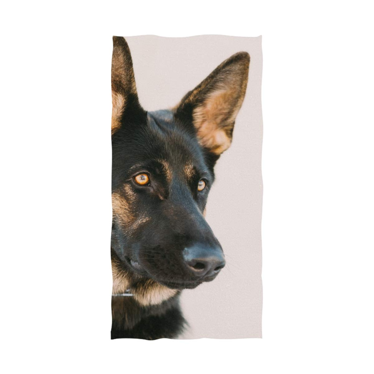 La Random German Shepherd Dog Print Soft Absorbent Bath Towels Spa Bench Bathroom Towels for Adults Kids 64 x 32 inch