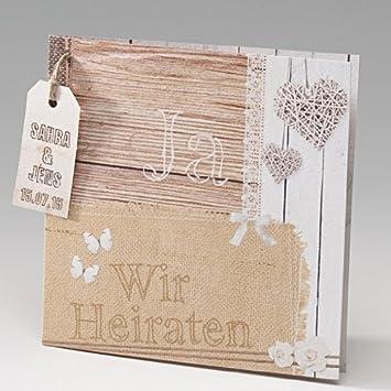 Einladung Hochzeit Holz Designideen