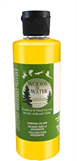 product image for Badger Air-Brush Co. 16-Ounce Woods and Water Airbrush Ready Water Based Acrylic Paint, Pearl Yellow
