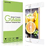 iPhone 8 Screen Protector-OCYCLONE Tempered Glass with 3D Touch Case Protective Screen Protector for Apple iPhone 7 (White)