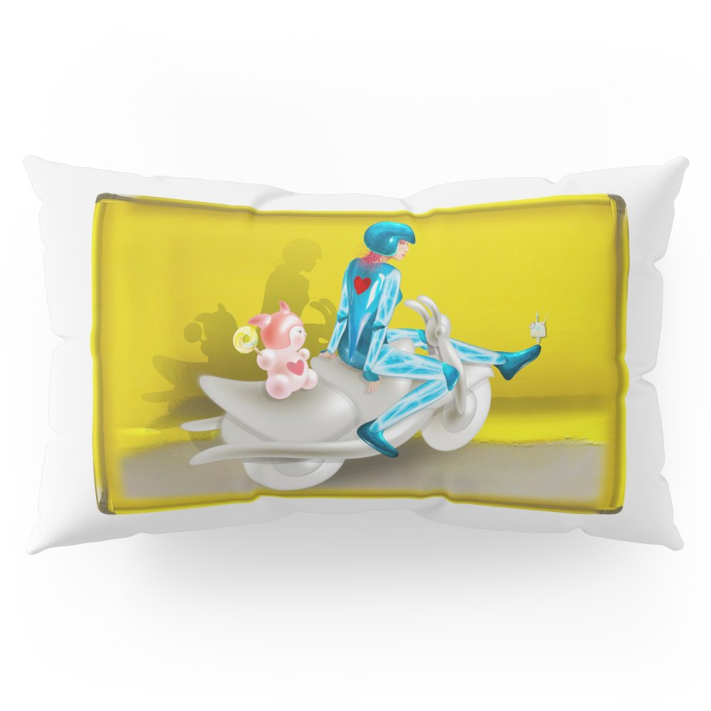 Society6 Time Bunny Girl And Love Robo Pillow Sham King (20'' x 36'') Set of 2