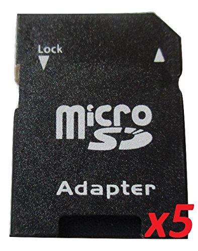 Set di 5 Adattatore SD per Micro SD Equipements8101