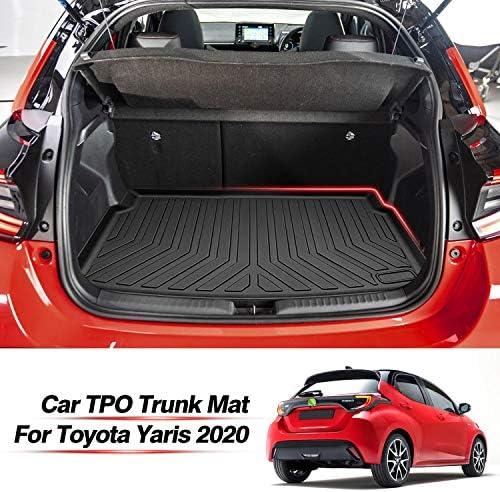 Huadi Yaris Kofferraummatte Für Toyota Yaris 2020 Wasserdicht Kratzfest Geruchlos Leicht Zu Reinigen Schwarz Auto