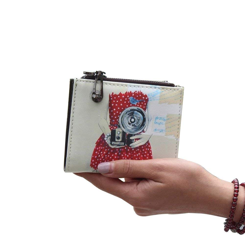 Girl Nawoshow Women Cute Small Wallet Cherry Pattern Coin Purse Card Holder Clutch Bag
