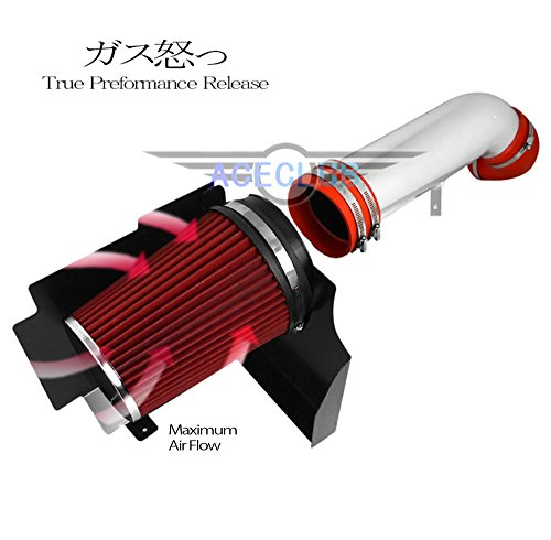 High Flow Sport Cold Air Intake Kit+Red Filter For Chevrolet 02-06 Avalanche 1500 5.3L V8/Cadillac 02-06 Escalade 5.3L 6.0L V8 NA