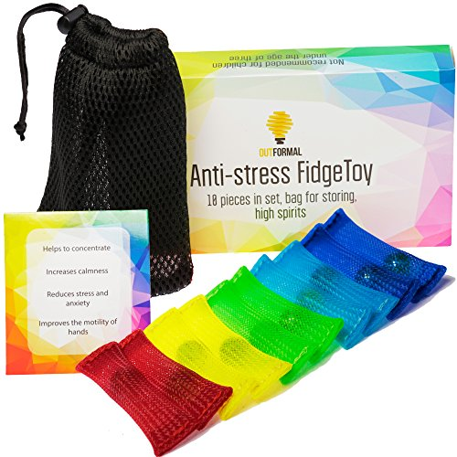 Fidget-Toys-Anti-Stress-Set-of-10-pcs-with-Bag-Premium-Quality-Increase-Focus-Reduce-Stress-For-Kids-and-Adults-Can-be-Used-at-School-Home-Office-Help-with-Autism-ADHD-ADD-OCD-by-OutFormal