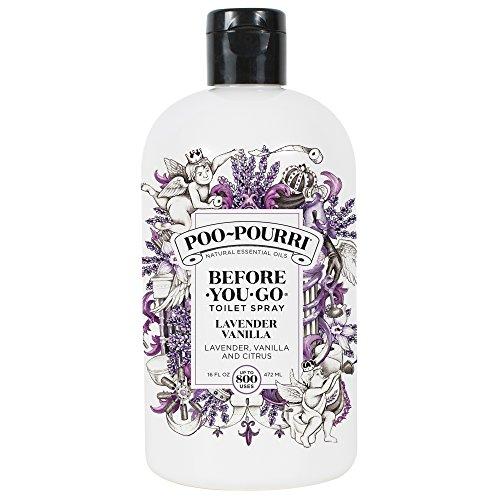 Poo-Pourri Before-You-Go Toilet Spray 16 oz Refill Bottle, Lavender Vanilla Scent (Sprayer not included) -