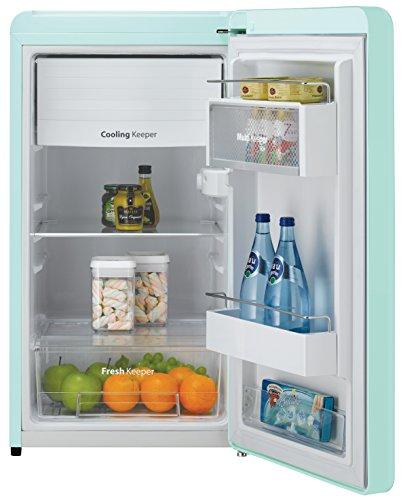 Daewoo FR-044RCNM Retro Compact Refrigerator 4.4 Cu. Ft. | Mint Green - smallkitchenideas.us