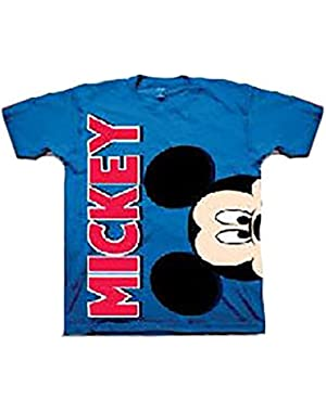 Baby Mickey Mouse Sideways Head Royal Todderl Tee Shirt