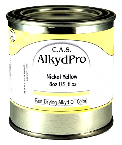 C.A.S. Paints AlkydPro Fast-Drying Oil Color Paint Can, 8-Ounce, Nickel Yellow ()