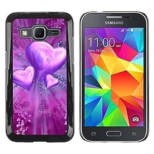 Be Good Phone Accessory // Dura Cáscara cubierta Protectora Caso Carcasa Funda de Protección para Samsung Galaxy Core Prime SM-G360 // Love Purple Heart