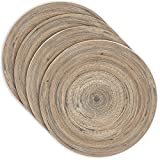 Spun Bamboo Drink Coasters by Earthly - Set of 4 (Round)