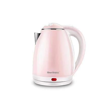 YYY Calentador de agua eléctrico azul rosado de la caldera Caldera casera de acero inoxidable de