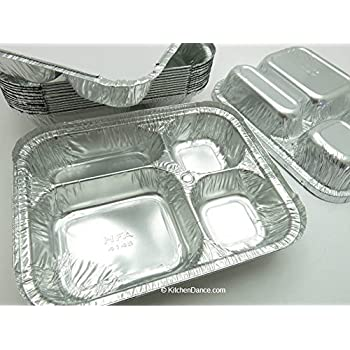 Amazon Com Disposable Aluminum 4 Compartment T V Dinner
