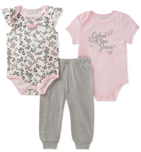 Calvin Klein Baby Girls 3 Pieces Body Pants Set