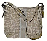 Coach Heritage Stripe Signature C Chelsea Hobo / Crossbody Bag Handbag With 2 Straps Style 16191 Khaki