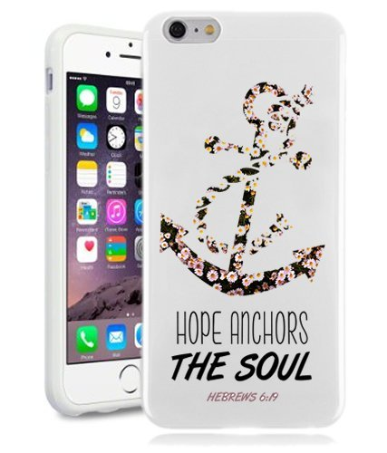Christian iPhone 6 Case Bible Verse iPhone 6 Case By NickyPrints(TM) - Christian Bible Verse Quote Hebrews 6 19 Hope Anchors The Soul UNIQUE Designer Gloss Candy TPU Flexible Slim Case for iPhone 6