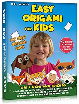 Easy Origami for Kids: Ori + Gami and Friends. Origami Kit with Magical Book, Easy-to-Do Fun Papercraft Projects and Step-by-Step Instructions to the Art ... Folding (Dover Origami Papercraft Book 1) by [Mr. Mintz]