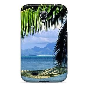 High Grade AnnaTwins Flexible Tpu Case For Galaxy S4 - An Inviting Hammock Tahit