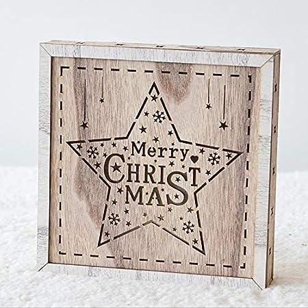 HOMDC - Caja de luz para árbol de Navidad, decoración de Madera, para Navidad, como Las imágenes, 2 Unidades: Amazon.es: Hogar