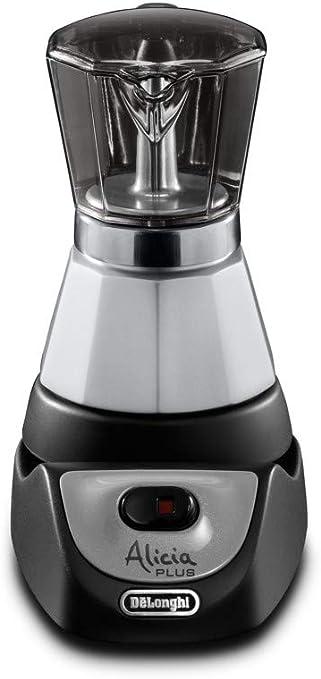 DeLonghi Alicia EMKM 4 - Cafetera independiente, semi-automática, 450 W, 2-4 tazas, metal, negro/plata/transparente: Amazon.es: Hogar