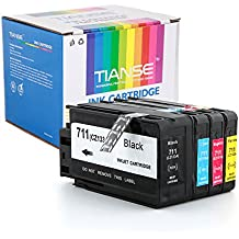 Tianse 711 ink Cartridge Replacement for HP 711 711xl with HP Designjet T120 T520 Printer