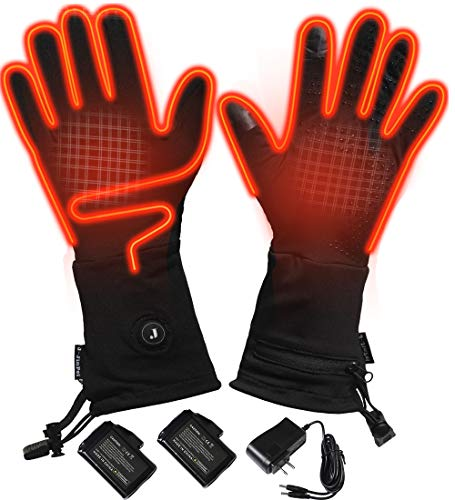 Heated Glove Liners Electric Gloves Thin Glove Liners Battery Heated Gloves for Men Women Winter Heated Mittens (M)