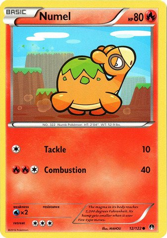 Numel Common Card - Pokemon - Numel (12/122) - XY Breakpoint