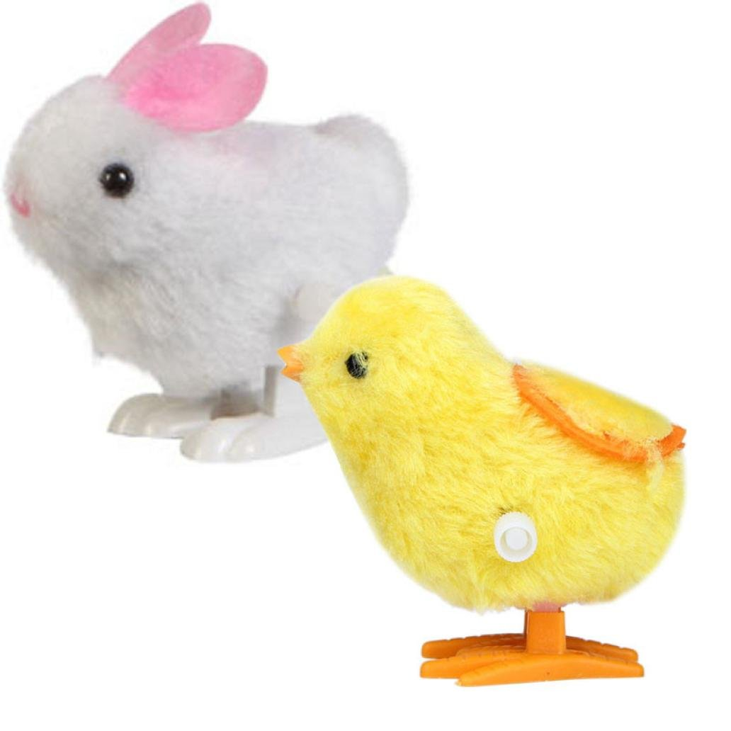 Mandy Infant Child toys Hopping Wind Up Easter Chick and Bunny