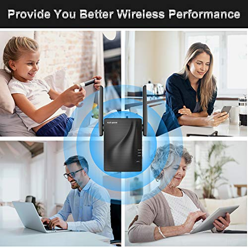 WiFi Range Extender - 750Mbps WiFi Repeater Wireless Signal Booster, 2.4 & 5GHz Dual Band WiFi Extender with Ethernet Port, 360 Degree Full Coverage WiFi Range Extender Repeater, Simple Setup