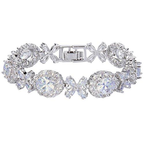 EVER FAITH Silver Tone Elegant Bracelet