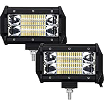 Led Light Bar 2 PCS Samlight 72w Work Lamp OSRAM Flood Beam Driving Lights Off Road LED Cubes Light for Power Sport ATV UTV SUV Off Road Jeep Marine Boat