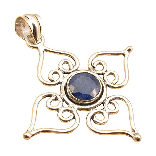 Antique Look, Ancient Style Factory Direct CROSS Pendant ! 925 Sterling Silver Plated Made In (Antique Sapphire Cross)