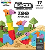 People Block Zoo Animals 17 pc set