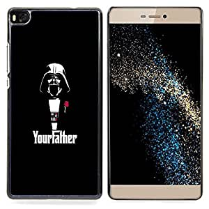 """Qstar Arte & diseño plástico duro Fundas Cover Cubre Hard Case Cover para Huawei Ascend P8 (Not for P8 Lite) (YourFather Starwars"""")"""