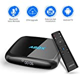 GooBang Doo 2018 Model ABOX A4 Android 7.1 TV Box Voice Remote Ultra 4K HD Smart TV Box 2GB RAM 16GB ROM Bluetooth 4.0 S905W Quad Core A53 Processor 64 Bits