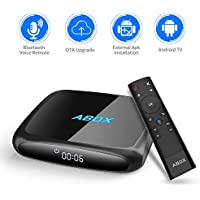 GooBang Doo 2018 Model ABOX A4 Android 7.1 TV BOX with Innovative Voice Remote, Best Android UI, 2GB RAM 16GB ROM Bluetooth 4.0