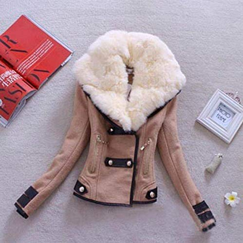 Lana Pile Cappotto Giacca Giacche Manica Vintage Autunno Lunga Khaki Con Invernali Casuale Lupetto Women Caldo Di Moda Donna In Eleganti Giovane Cerniera AggqUw
