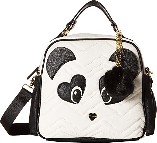 Betsey Johnson Women's Top-Handle Tote Black/White One ()