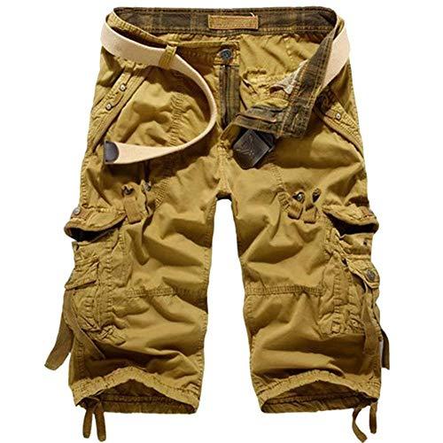 Pantaloncini Cachi Cachi Cargo 31 Da Uomo Stile Militare Fuweiencore colore Retrò Combattimento Dimensione RdwqRC