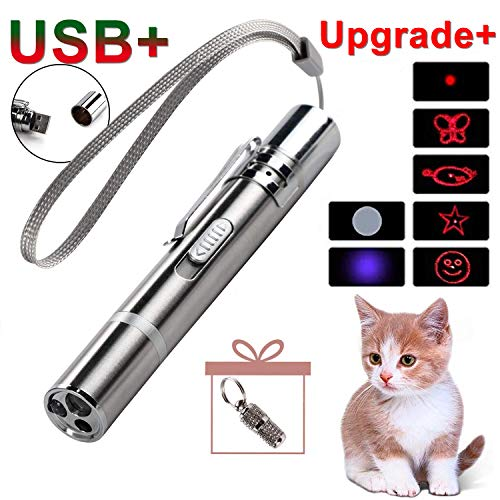 GO! On The Rechargeable Upgrade Pet Training Exercise Chaser Tool, 3 Mode,Cat Light Toy+A Small Pet Tag