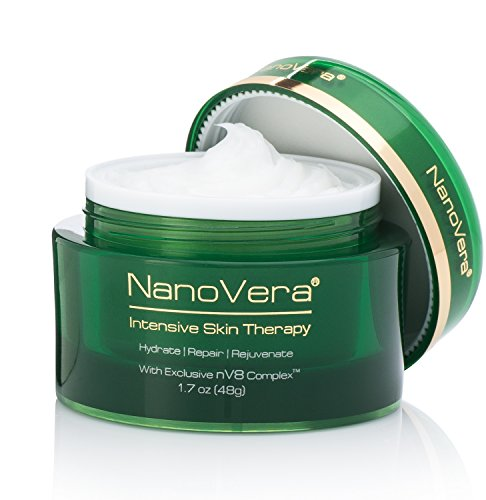 NanoVera Intensive Skin Therapy Anti-Aging Moisturizer Cream and Serum for Dry Skin, 1.7 Ounce (Anti Aging Therapy)