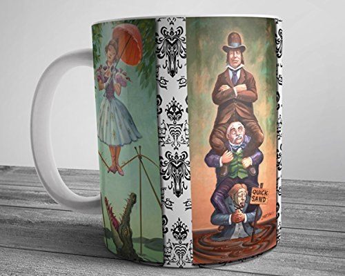 Haunted Mansion Painting Ballerina Mug Stretching Paintings Coffee Cup 11 oz. Disneyland Haunted Mansion