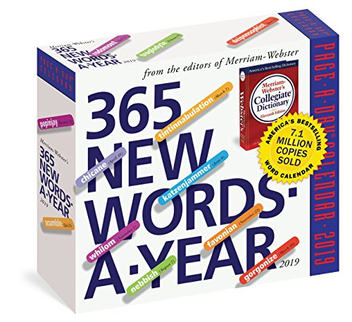 365 New Words-a-year 2019 Calendar