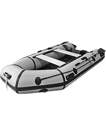 Outroad Inflatable Dinghy Fishing Boat 10 FT, Sport Tender Raft Deep Bottom and Trolling Motor
