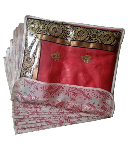Fashion Bizz Fashion Bizz Premium Single Flap Saree Cover Bag Set of 12 Pcs