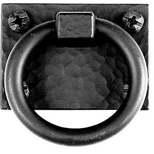 Acorn Manufacturing APZBP 2 Inch Exterior Ring Pull, Black Iron Finish - Acorn Iron Pull