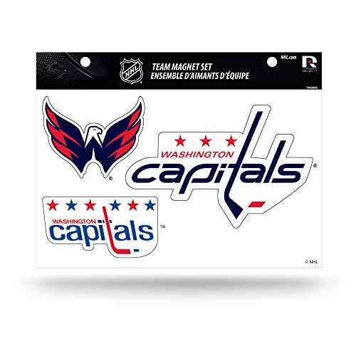 (NHL Washington Capitals Die Cut Team Magnet Set Sheet)