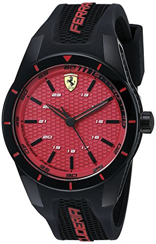 - Ferrari Men's 0830248 REDREV Analog Display Japanese Quartz Black Watch
