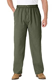 dc11ef6505e KingSize Men s Big   Tall Full Elastic Twill Knockarounds with Button Front